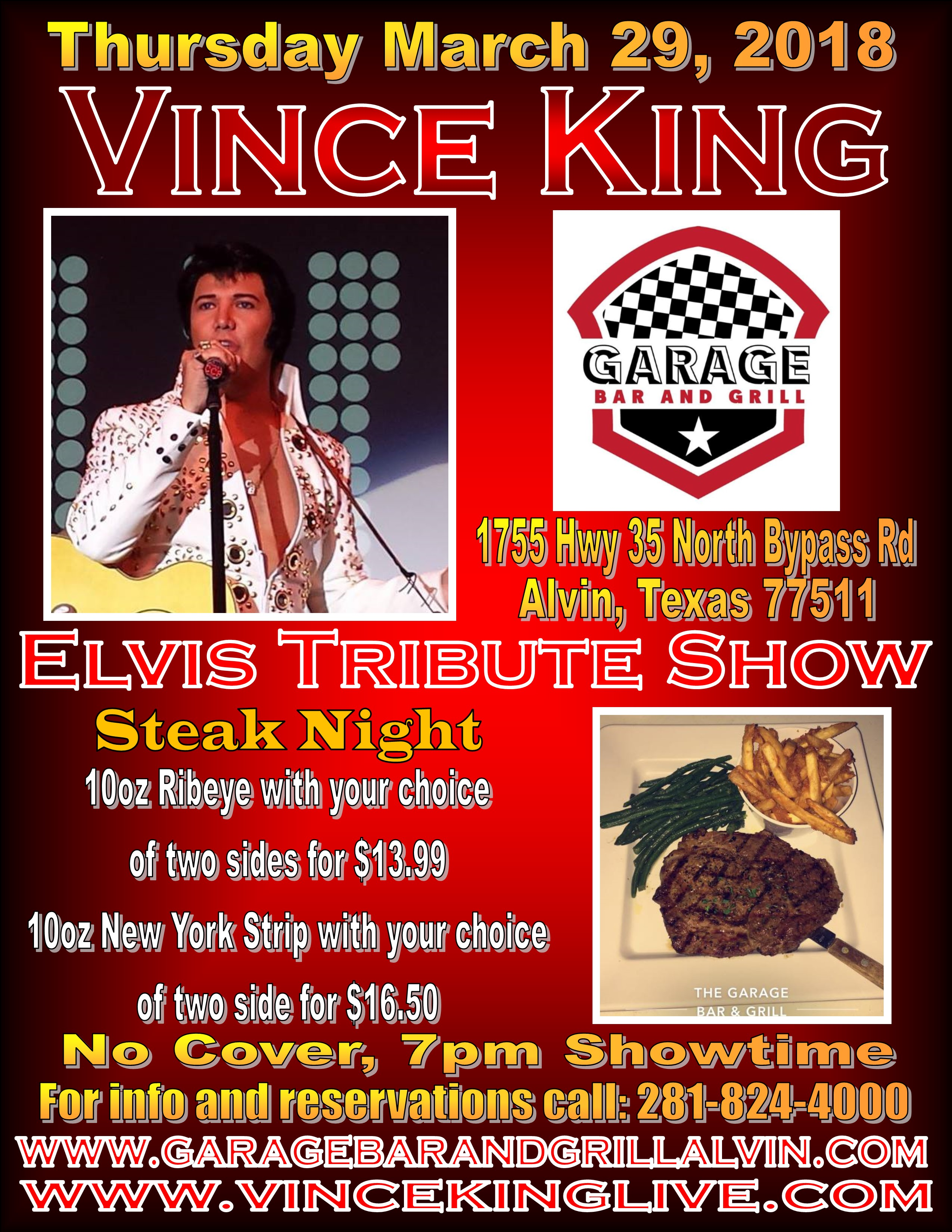 The Garage Bar Grill Alvin Tx Vince King Live